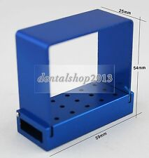 New Dental 15 holes Long Shank RA Bur Disinfection Box Holder Stand Autoclave
