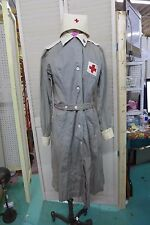 Vintage WWII Red Cross Army Nurse Dress Uniform w/ Hat Pin & Patches Size 6