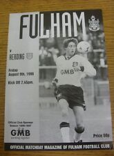 09/08/1996 Fulham v Reading [Friendly] (Four Pages, Faint Crease).  We are pleas