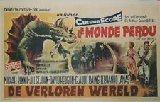 """LE MONDE PERDU (THE LOST WORLD)"" Affiche belge originale entoilée (Conan DOYLE)"