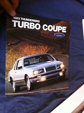 1983 Ford Thunderbird Turbo Coupe Color Brochure Catalog Prospekt