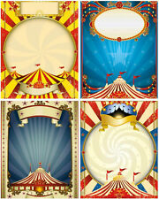 9 CIRCUS BIG TOP - TENT RETRO VINTAGE 155 lb SCRAPBOOK PAPER CRAFT CARD TAG