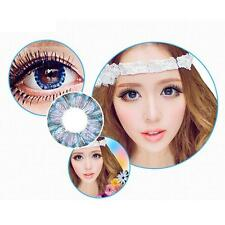 Cosplay Cosmetic Colour Contact Lenses Big Eye Lens Makeup Lady Blue Clover AF