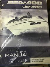 GENUINE SEA DOO JET BOAT MANUAL FOR SPORTSER 1800 & CHALLENGER 1800 VOL 1 1999