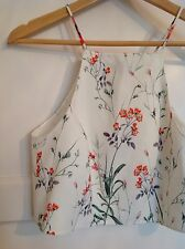 Beautiful Floral Print Crop Top From Zara Size M