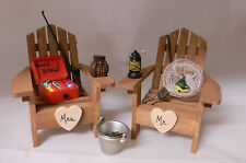 Wedding Reception Party Fishing Tackle Box Pole Adirondack Chairs Cake Topper