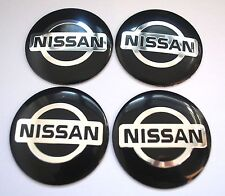NISSAN Wheel Hub Caps Badge Emblem Stickers METAL 56.5mm Set of 4 HIGH QUALITY
