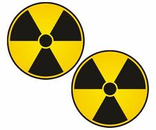 "2 - 5"" Nuclear Radiation sign decal warning symbol bio hazard sticker pack"