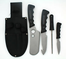 Snake Eye Tactical Heavy Duty 5PC Big Game Hunting Knife Set Silver