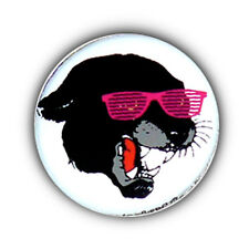 Badge PANTHER SUNGLASSES funny pop fluo kidz Rock punk retro pins button Ø25mm
