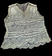 1910 Edwardian Bobbin Lace and Embroidery Blouse - Museum Quality
