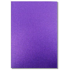 2 x A4 SHEETS OF 220GSM PREMIUM DOVECRAFT AMETHYST PURPLE GLITTER CARD