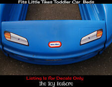 Replacement Decals Stickers fits Little Tikes Tykes Toddler Car Bed Carbed Coupe