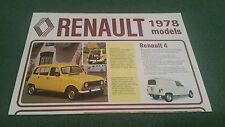 October 1977 1978 Model RENAULT UK RANGE BROCHURE 4 5 6 12 14 16 15 17 20 30 VAN