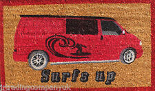 VW Van Large Coconut Volkswagen Front Door Mat W75 x D45cm Coir Doormat Surfs Up