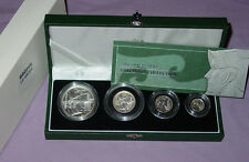 2003 SILVER PROOF BRITANNIA FOUR COIN COLLECTION IN CASE