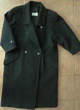 NERO loden-cappotto Saccardi breve-misura 22 Taglia 44 Trachten-MANTEL tosatura-LANA