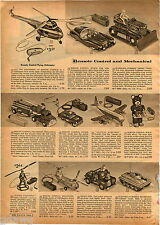 1957 ADVERT Remote Control RC Toy Flying Commando Jeep Sparkling Tank Tractor