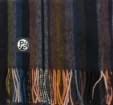 Paul Smith Scarf 100% Wool College Stripe