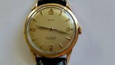 Vintage Swiss CYMA Automatic Gold Plated Waterproof Wristwatch