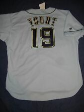 AUTHENTIC Russell Athletic ROBIN YOUNT Milwaukee Brewers Grey Jersey 52 XXL NWT