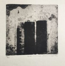 Rare Norman Ackroyd RA Original Etching 1973 signed Edition 125 twin towers