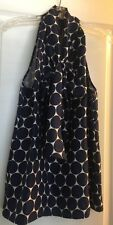 MARC BY MARC JACOBS Top Polka Dot SILK TIE NECK Size M Blue Off White