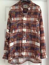 VINTAGE URBAN OUTFITTERS Paisley Checked Renewal Shirt Size Medium M