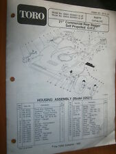 "TORO Lawn Mower 22621 22622 - 21"" : parts catalog 1990"