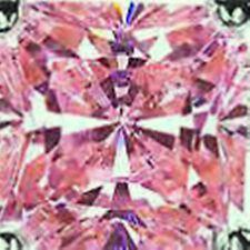8 ct  Princess Pink Top Russian Quality CZ Moissanite Simulant  11 x 11 mm