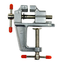 "3.5"" Miniature Vise Small Jewelers Hobby Clamp On Table Bench Tool Vice Aluminum"