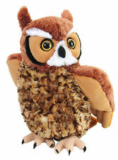 "Wild Republic Cuddlekin Great Horned Owl 12"" Plush Forest adorable plushie New"