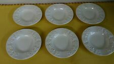 Set of 6 Wedgwood Queensware Ashtrays Embossed Cream On Cream Etruria
