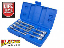 "Blue Spot Tools - 3/8"" 7 Piece Extra Long Ball Ended Hex/Allen Key Bit Set,01510"