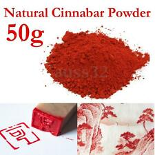 50 Gram Red Powdered Cinnabar Crystal Native Pigment Material Painting Drawing