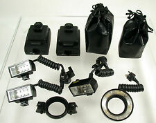 Olympus OM Macro Flash éclair set t28 twin single t10 ring 2x t power control 1
