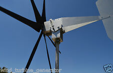 "1645 WATTS Typhoon Tilting Unibody Wind Turbine Generator 6KT 24 VAC 1.5"" Roller"