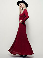 NWT Free People White River Maxi In Cranberry Red Size XS $198