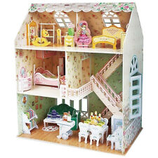 NEW 3D Dreamy Dollhouse Puzzle - House Furniture And People Interlocking Pieces