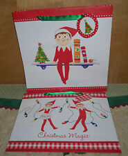 ELF ON THE SHELF CHRISTMAS HOLIDAY GIFT BAGS ~ SET OF 2 DIFFERENT DESIGNS ~CUTE!