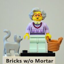 New Genuine LEGO Grandma Minifig with Cat and Basket Series 11 71002