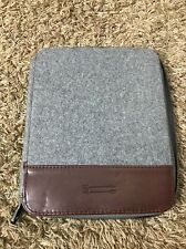MENS BEN MINKOFF GREY WOOL IPad Day Planner SLEEVE 8 1/2 X 10 1/4
