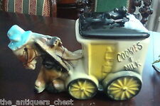 American Bisque Cookies and Milk Donkey Cart Cookie Jar, 1950s