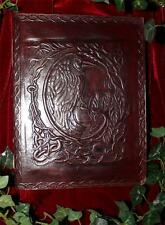 RAVEN LEATHER BOUND LARGE JOURNAL/BOOK OF SHADOWS ~ HAND MADE PAPER