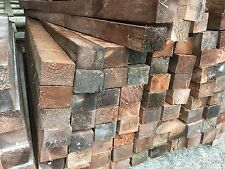 "RECLAIMED TIMBER DIPPED 4""x3"" 6ft & 7ft POSTS WOOD BEARERS FENCE RAILS JOIST"