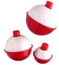 """Package of 12 Danielson Snap-On Round Red & White 2"""" Bobbers Floats NEW"""