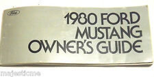 1980 Ford Mustang Owners Guide Manual