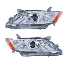07-08 TOYOTA CAMRY  HEADLIGHTS FRONT LAMPS PAIR SET