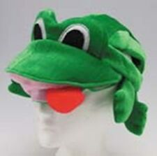 GREEN FROG PRINCE HAT JUNGLE ANIMAL FROGGY TOAD RIBBIT KERMIT COSTUME  HAT
