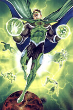 SIGNED PARALLAX GREEN LANTERN PRINT- Tom FLEMing